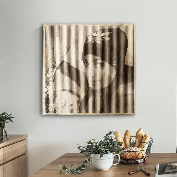 Wooden Face Portraits