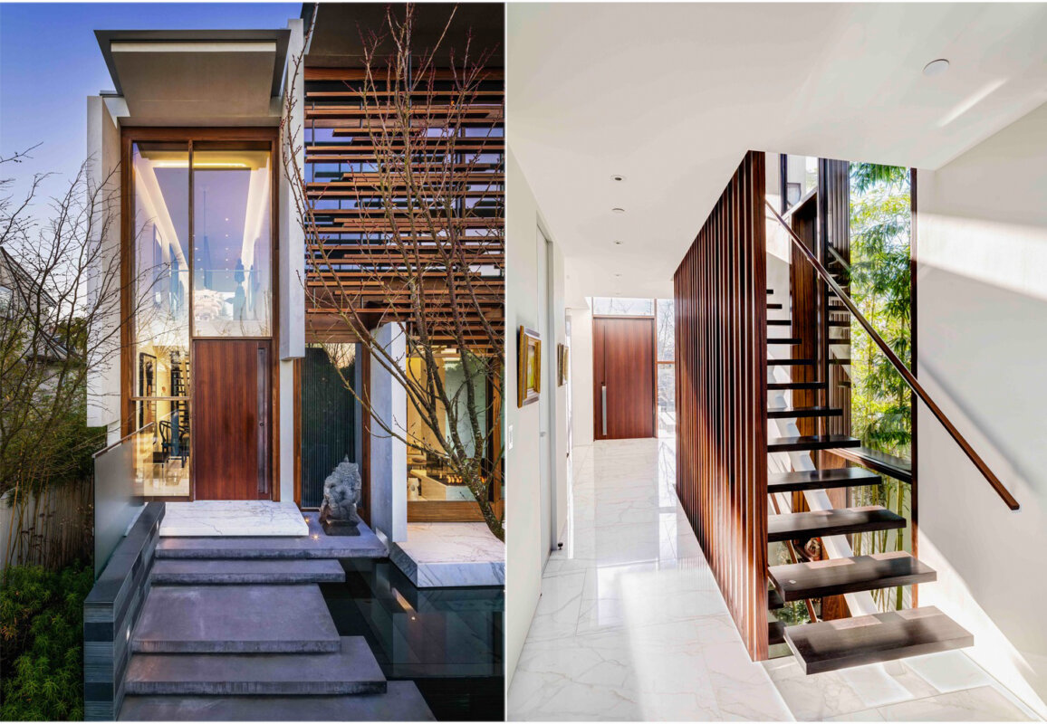 Floating House Entrance and Staircase