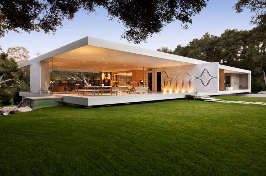 Glass pavilion exterior