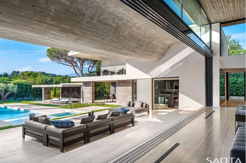 Architecture Design - 5 Stunning homes of 2020 house with the wavy ceiling living room