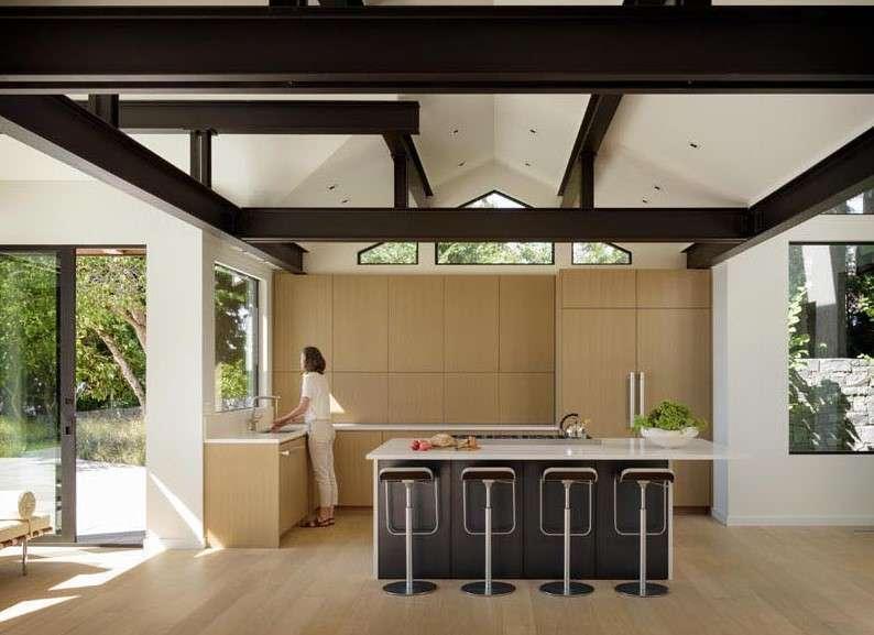 Architecture Design lakeside house Island Kitchen